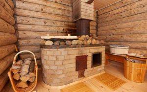 Внутренняя печь в бане
