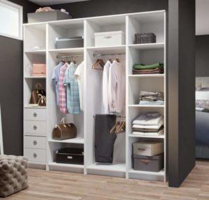 Вид гардеробных комнат в виде модулей