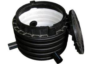 Черный пластиковый колодец