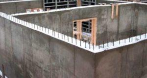 Заливка бетоном цоколя дома