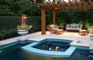 Дачный отдых в бассейне