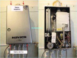 Устройство газового котла марки Навьен