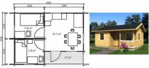 Проект домика для дачи