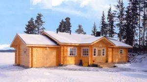 Зимний дом из дерева