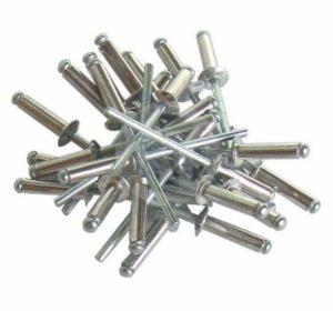 Вид заклепок из металла аллюминия