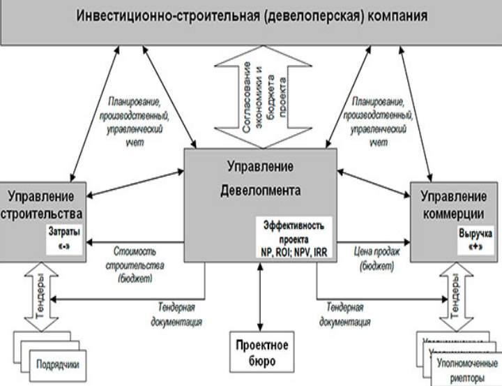 Схема управления в строительных компаниях
