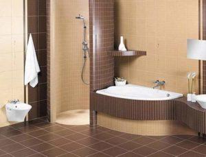 Какао-дизайн в ванной комнате