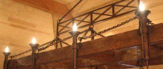 Деревянная люстра в стиле 18 века