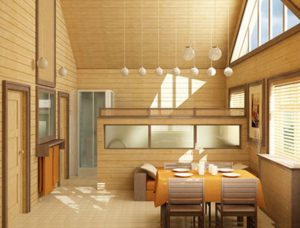 Дизайн квартиры с вагонкой изнутри