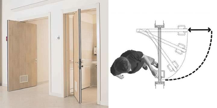 Двойная межкомнатная дверь роторного типа