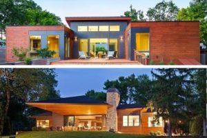 Два вида дома из одного этажа
