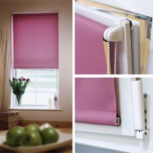 Фиолетовая рулонная штора