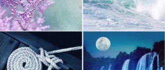 4 природных холодных гаммы