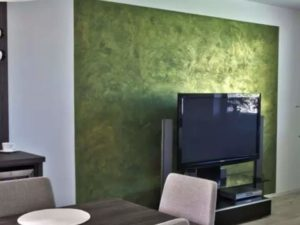 Декоративная краска для стен - шелк