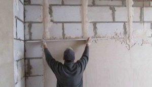 Стены, покрытые ротбандом