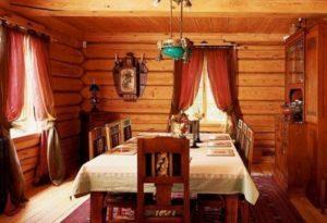 Кухня в стиле русской избы