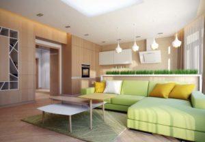 Желтые подушки на диван
