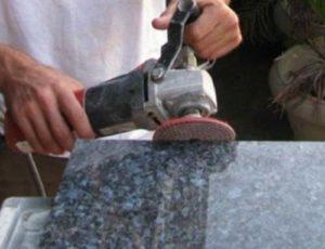 Обработка камня шлифованием
