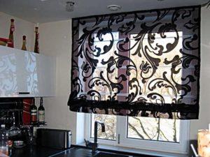 Прозрачная штора кухни