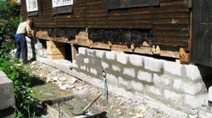 Строим новый фундамент дома
