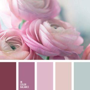 Палитра розового цвета