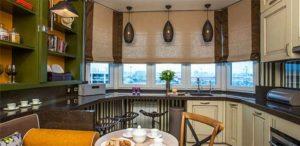 В кухню римская штора