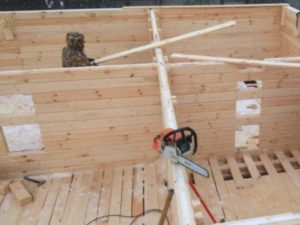 Как строится дом из бруса