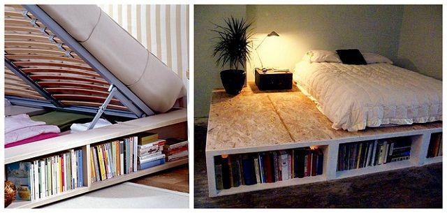 как использовать место под кроватью