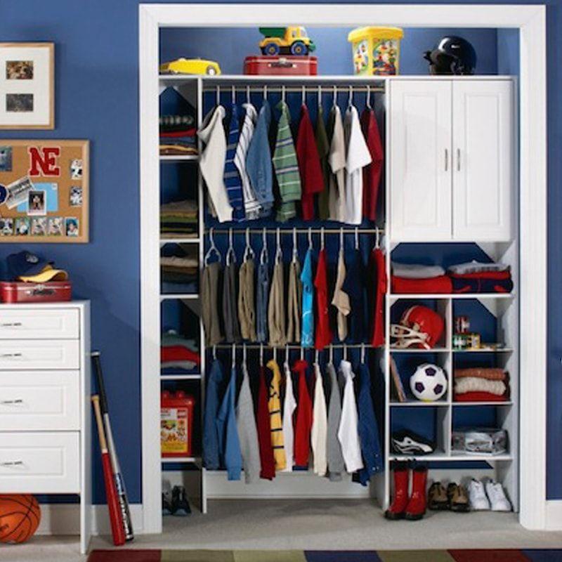 как обустроить шкаф для ребенка