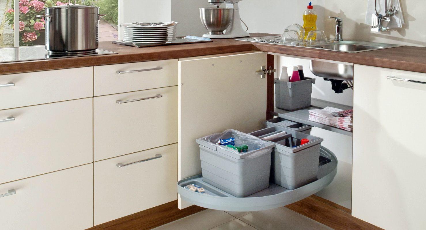 как организовать шкафчик под раковиной