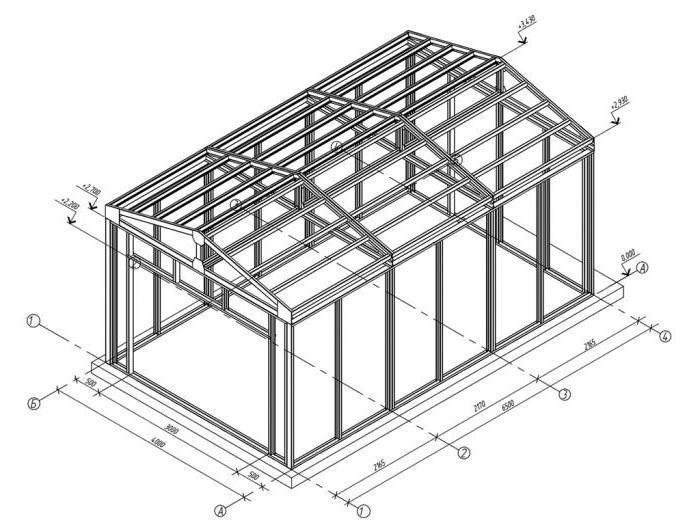 как построить гараж- чертеж