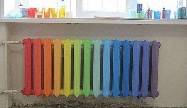 разноцветный радиатор