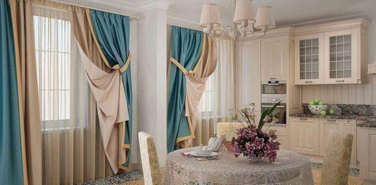 многоуровневые шторы в квартир