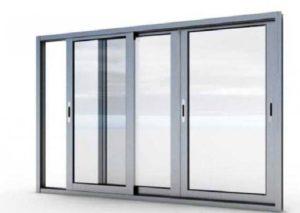 Модель окна из алюминиевой рамы на балконе