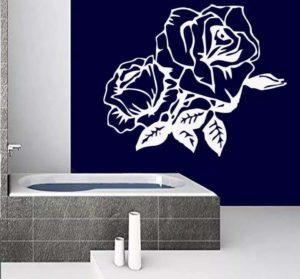 Наклейки на стену в виде роз