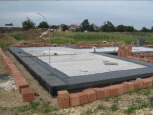 Плита фундаментная бетонная на объекте