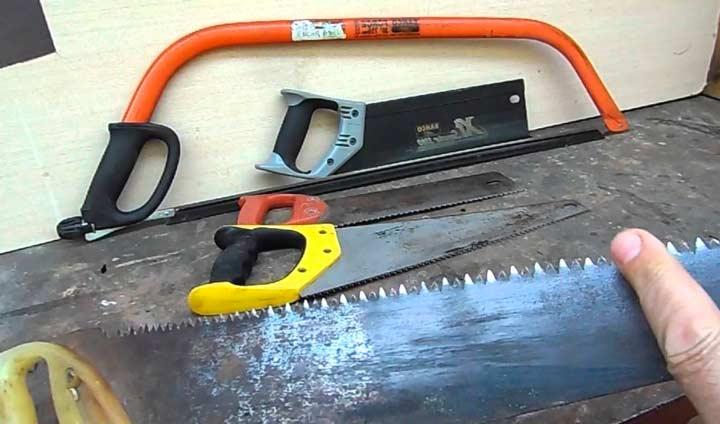 Разновидности ручных ножовок по дереву