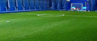 Футбольное поле с газоном