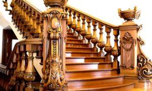 Золоченая лестница из дуба
