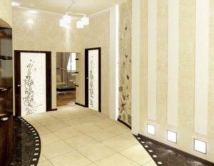 Геометрия в отделке коридора