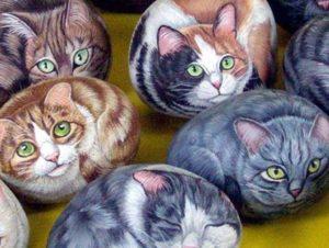 Кошки на камнях