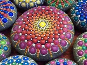 Мандала на камне