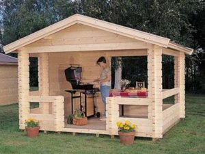 Переносной вариант летней кухни