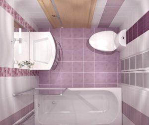 Плитка в туалетной комнате