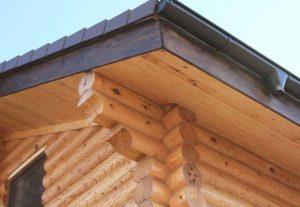 Крыша подшита вагонкой