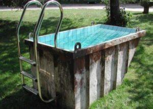 Идея для бассейна на даче