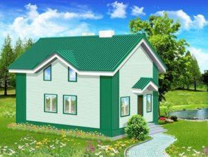 Дом зеленой палитры