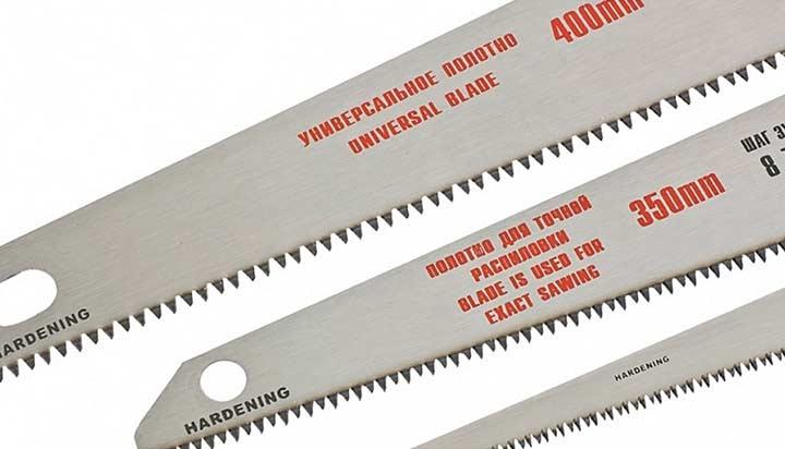 Полотна ножовок