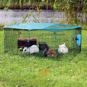 6 секций вольера для кроликов