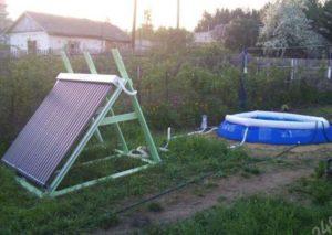 Нагрев воды для бассейна на даче